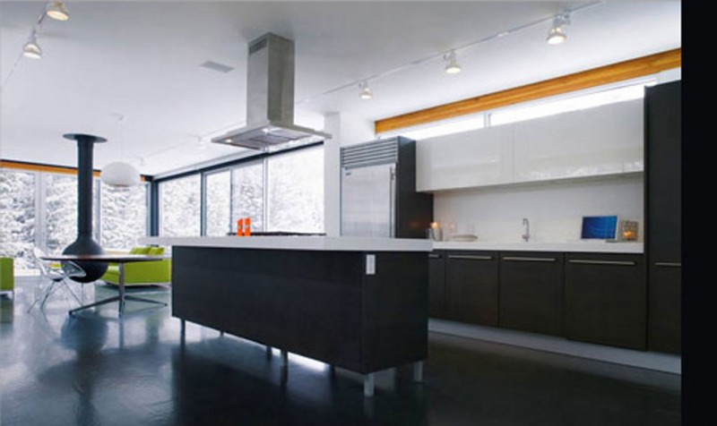 Contemporary Kitchen Mountain Home