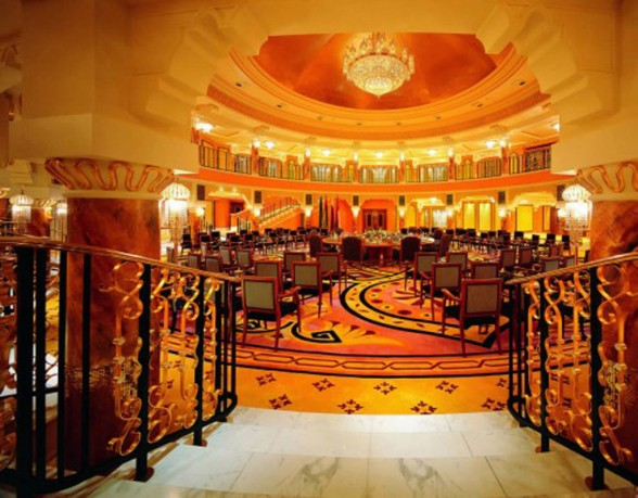 The ballroom luxury hotel
