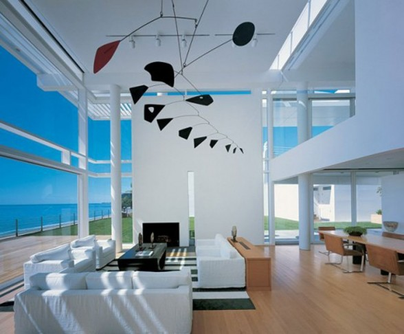 beach house living interior