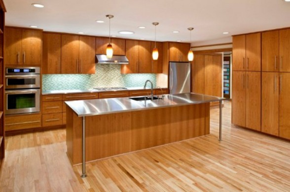 wooden kitchen green house decoration