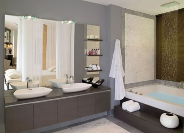 contemporary bathroom hotel decor
