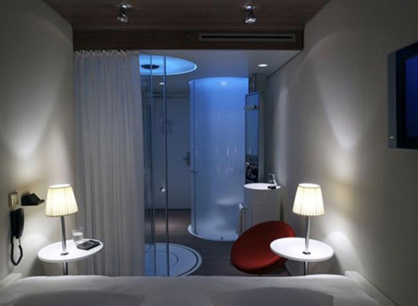 modern artistic hotel bathroom decor