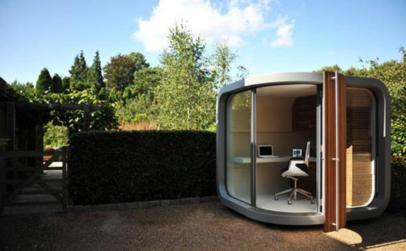 modern prefab home office design
