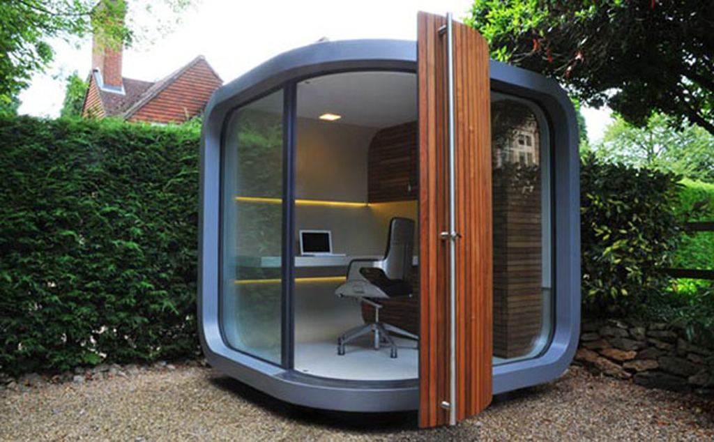 Creative Modern Small Prefab Home Office Design in Backyard ...