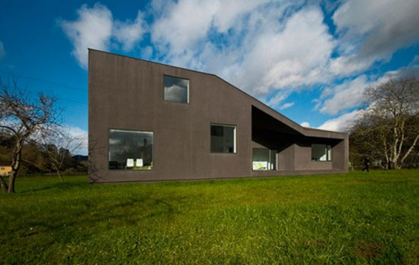 black concrete house design layouts
