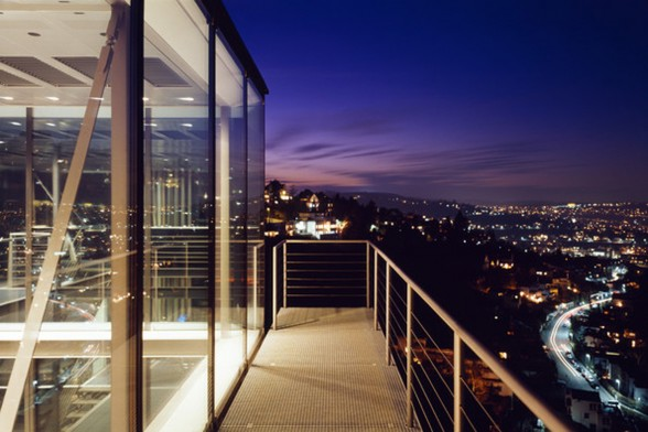 Amazing Glass House Architecture with Sustainable Features - Night View