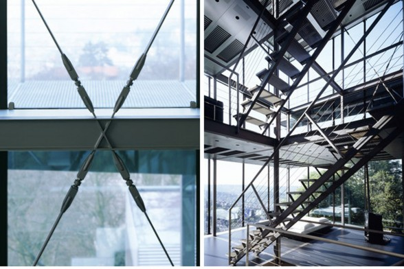 Amazing Glass House Architecture with Sustainable Features - Stairs