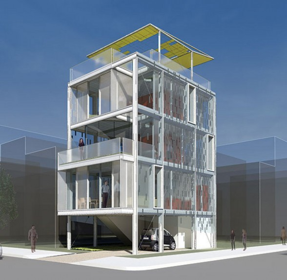 Cellophane House, a Modern Prefab Architecture - Overview