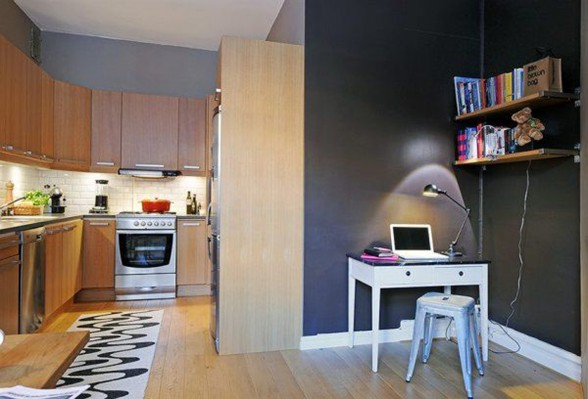 Contemporary Apartment Architecture in Beautiful City Gothenburg - Working Desk