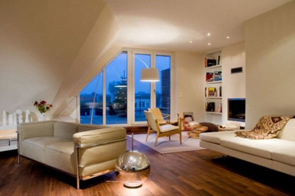 Contemporary and Elegant Design Rooftop Apartment - Livingroom