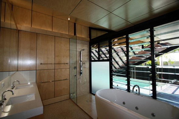 Exotic Contemporary Luxury Home Design by Wright Architect - Bathroom