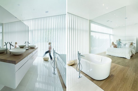 Futuristic Villa Architecture in Norway by Todd Saunders - Bathroom