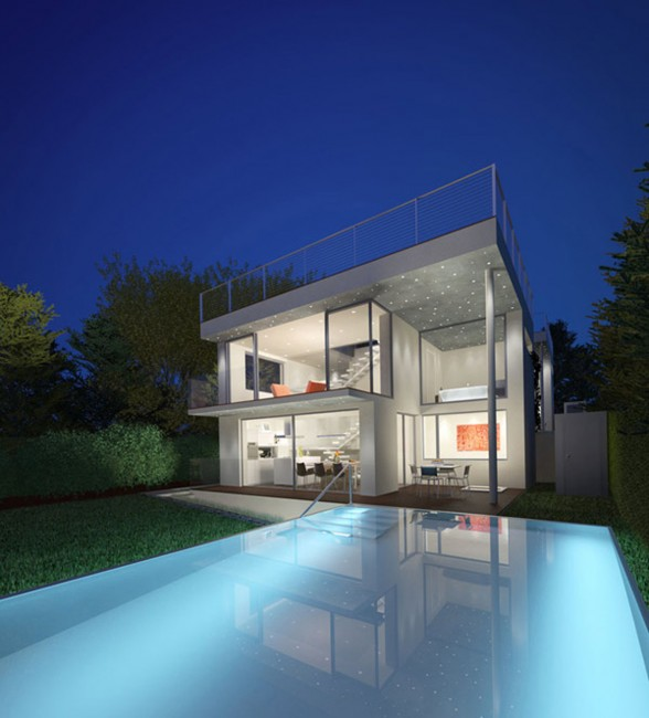 Glass House Architecture - Swimming Pool