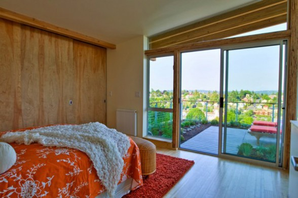 Green Eco-Friendly House Design in Columbia City - Bedroom