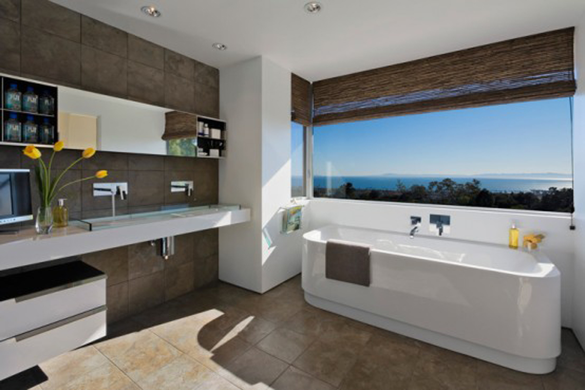 Green Environment and Sustainable House Plans in Santa Barbara - Bathroom