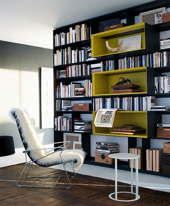 High-End Furniture in Modern Prefab House - Reading Room