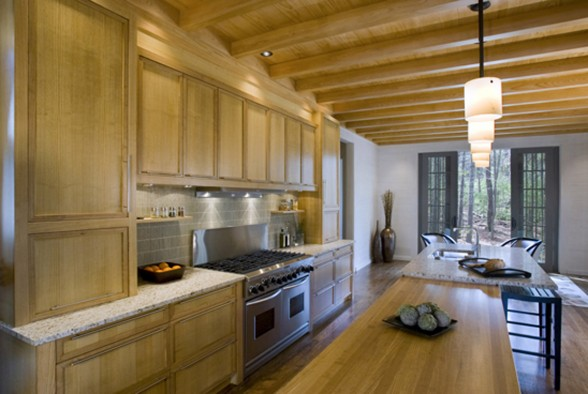 Natural Forest Environment Houses Design - Kitchen