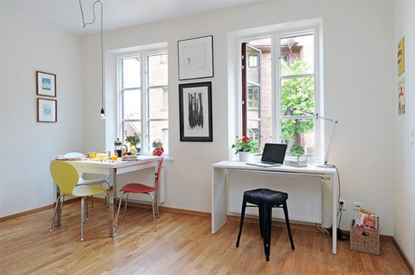 Small Space Apartment Idea - Dining Room