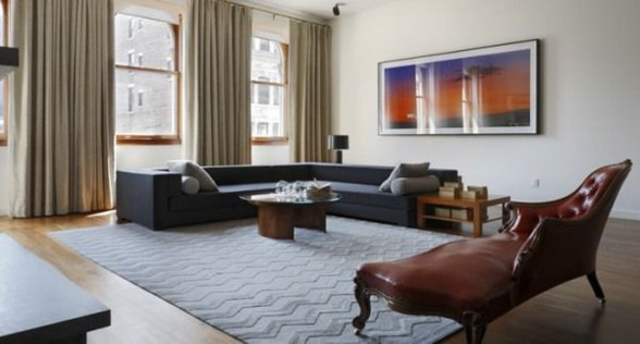 Soho Contemporary Complex Apartment Design - Livingroom