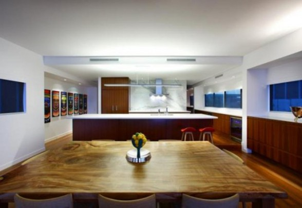 Two Level Beach House Architecture in Australia - Dining Room