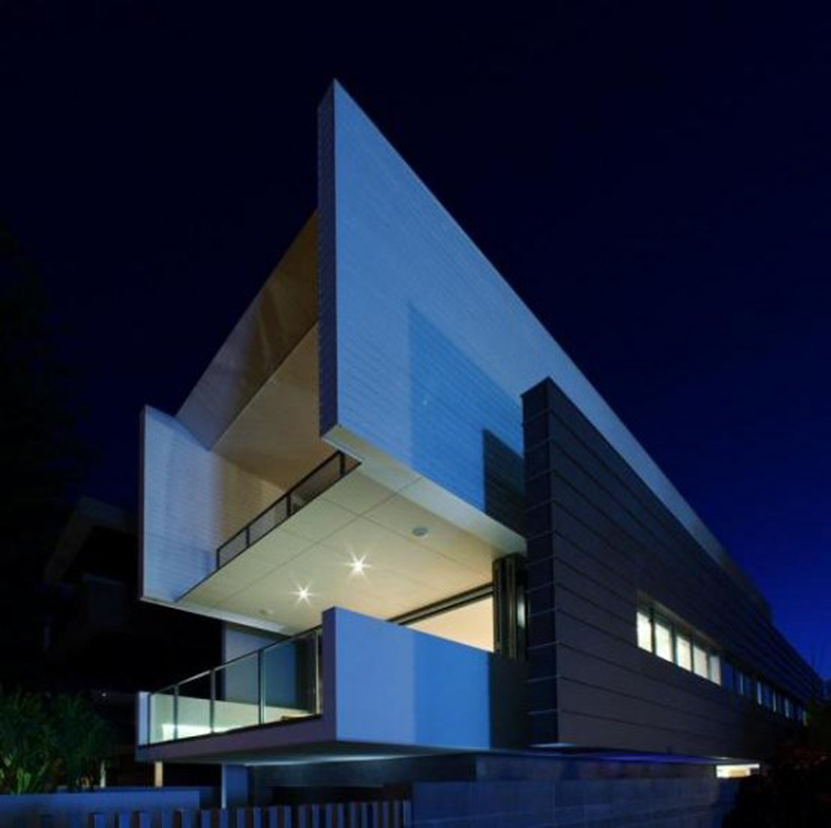 Two Level Beach House Architecture in Australia - Night View