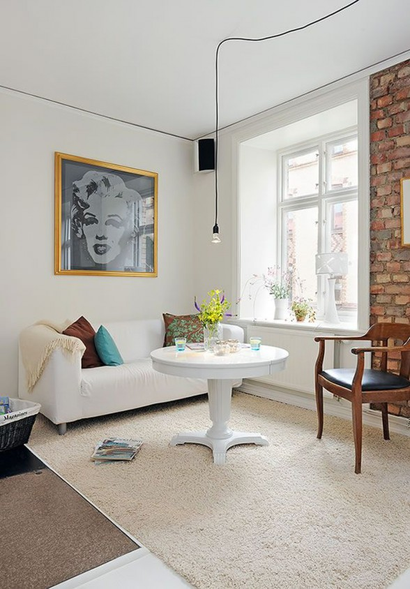 White Apartment in Swedish Inspiration - Guestroom