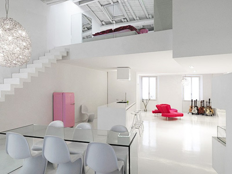 White And Modern Minimalist House Design