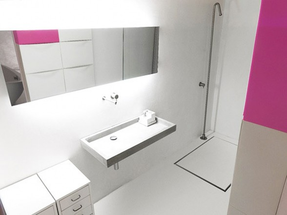 White and Modern Minimalist House Design - Bathroom