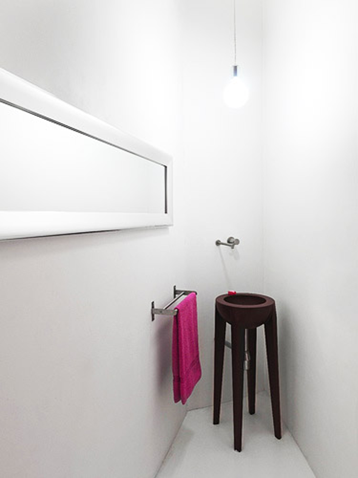 White and Modern Minimalist House Design - Dressing Room