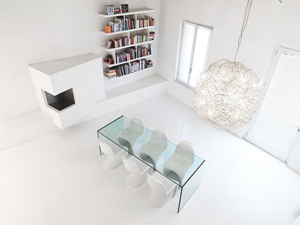 White and Modern Minimalist House Design - Livingroom