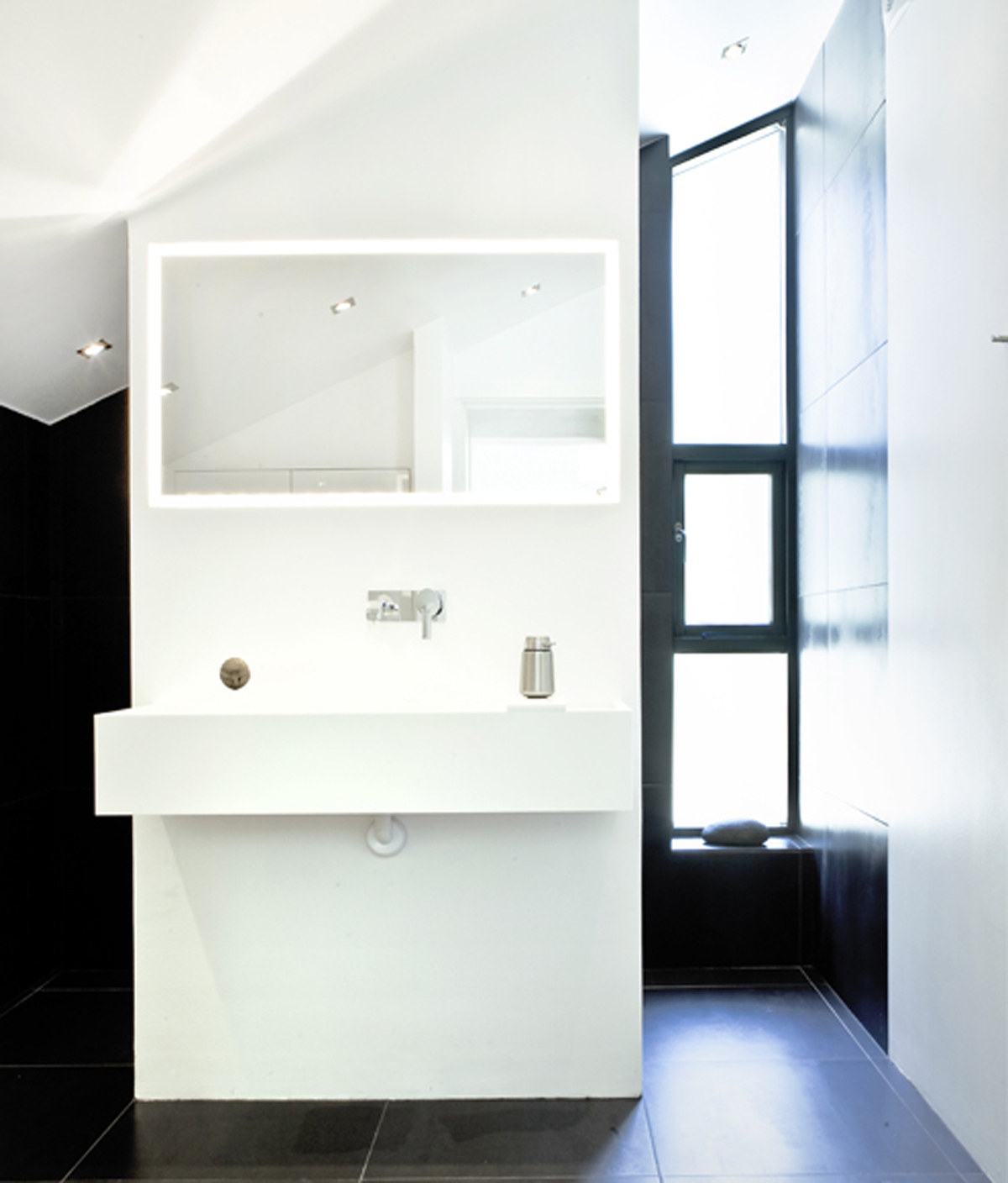 Beautifully Simple Interior in White Themes from NORM Architects - Bathroom
