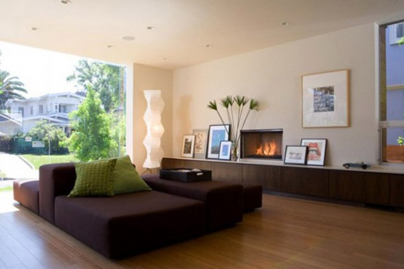 Combined Luxury House Design with Wooden Materials from Assembledge - Livingroom