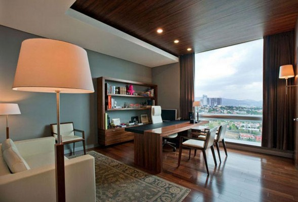 Contemporary Office Design with Wooden Material in Mexico City - Head Officer Room