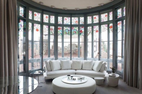 Deluxe Apartments for Rent in Barcelona, A Luxury Apartment Ideas - Livingroom