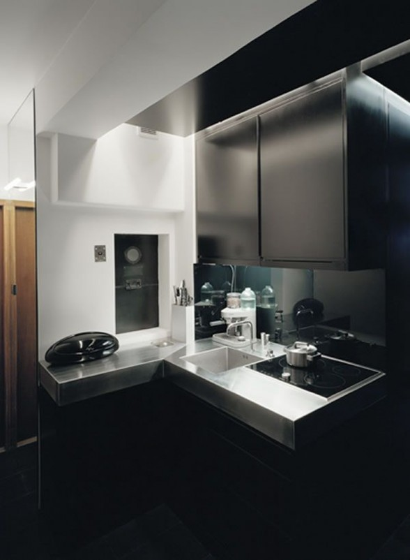 Elegant Black Apartment Inspiration by Erik Andersson Architects - Bathroom