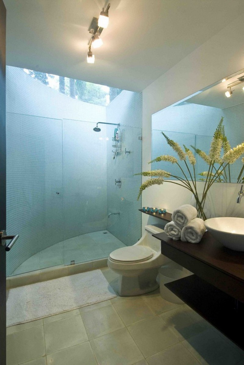Exotic Home Architecture In Costa Rica   Bathroom