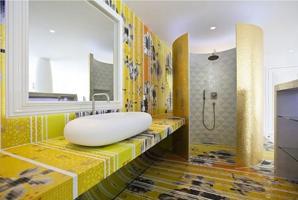 Extraordinary Style in Luxury Home Design, El Casa Son Vida - Bathroom