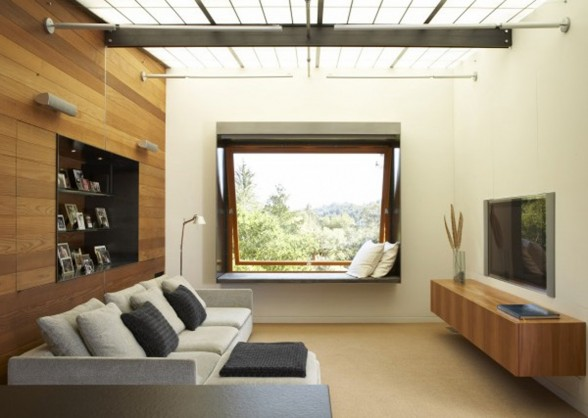 Glass House Design with Modern Timber Architecture Touch - Livingroom
