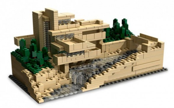 Gorgeous Fallingwater House Plans, Houses Built Over a Waterfall - Lego Architecture