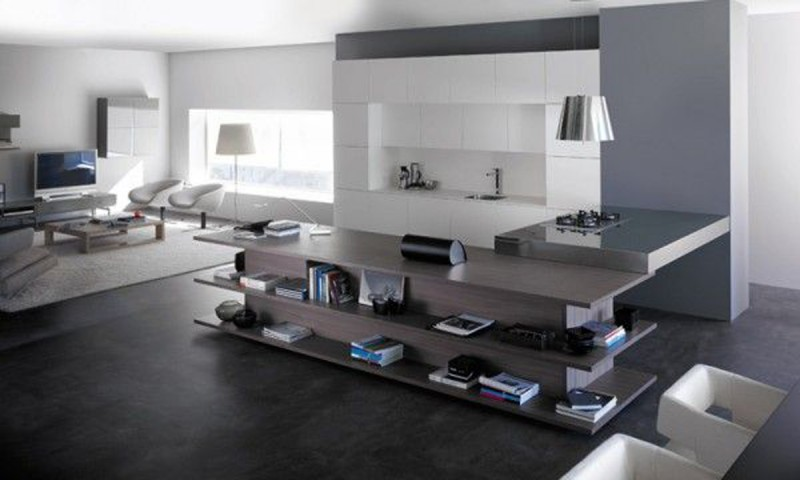Integrated Living Room And Kitchen, Innovative Interior Ideas