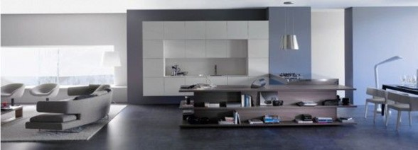 Integrated Living Room and Kitchen, Innovative Interior Ideas - Overview