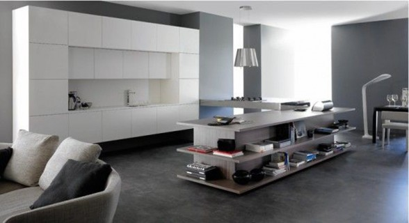 Integrated Living Room and Kitchen, Innovative Interior Ideas - The Kitchen