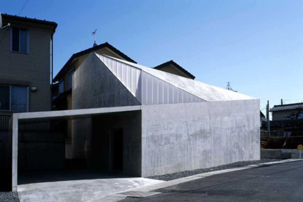 Japanese Concrete House Design with Small Building Concept » Viahouse.