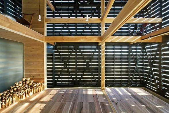 Japanese Workshop Homes Design with Barn House Style - Workspace