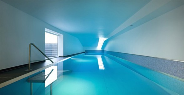 Luxurious House Design with Indoor Swimming Pool by Eva Harlou - Interiors