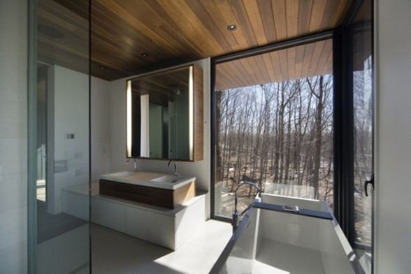 Quebec Contemporary Mountain Home Plans -  Bathroom