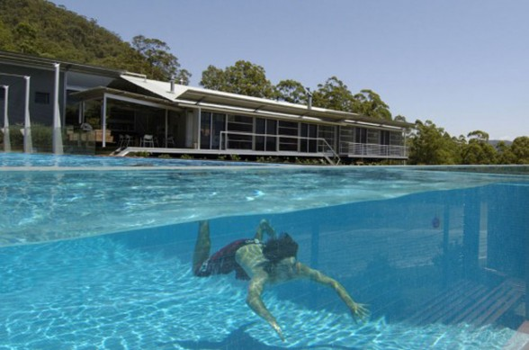 Small and Cool Mountain House Plans in Big Rock Australia - Swimming Pool
