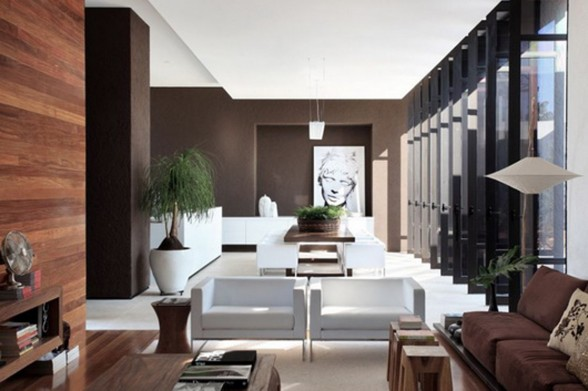 Solid Design in OM Contemporary Home Ideas from Guilherme Torres - Living room