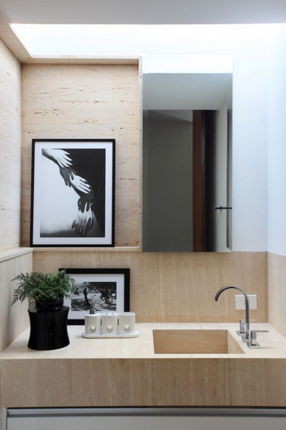 Solid Design in OM Contemporary Home Ideas from Guilherme Torres - Wastafel