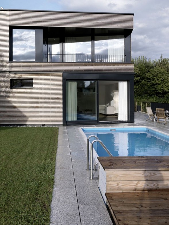 Swiss Timber House Architecture - Swimming Pool